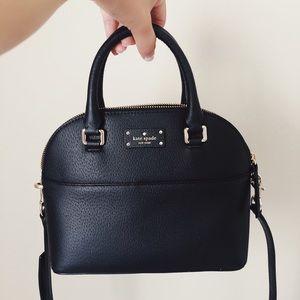 Kate Spade Black Leather Satchel Hand Bag